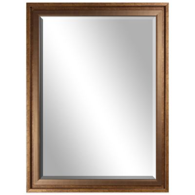 loft 24 inch x 32 inch rectangular wall mirror in bronze