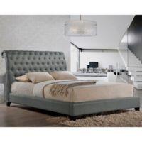 Baxton Studio Jazmin King Tufted Modern Platform Bed with Headboard in Grey
