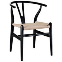 Modway Amish Wooden Armchair in Black