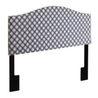 Pulaski Johnson Upholstered Queen Headboard in Quatrefoil Navy