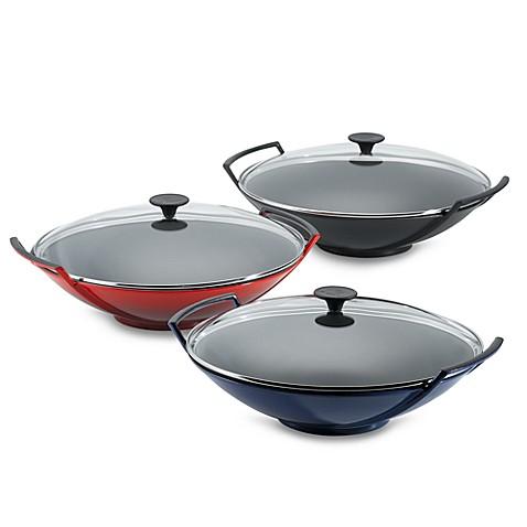 le creuset woks with glass lid bed bath beyond. Black Bedroom Furniture Sets. Home Design Ideas