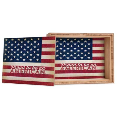 DENY Designs Medium Anderson Design Group  Proud to Be an American  Flag Jewelry Box  sc 1 st  Bed Bath u0026 Beyond & Buy Flag Storage from Bed Bath u0026 Beyond