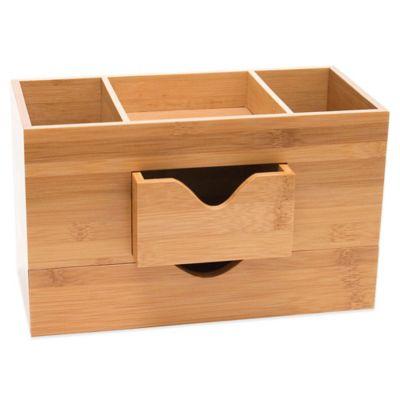 Lipper 3 Tier Bamboo Desk Organizer In Natural