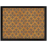 WallPops!® Veranda Framed Printed Cork Board in Black