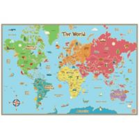 WallPops!® Kids' Dry Erase World Map Wall Decal