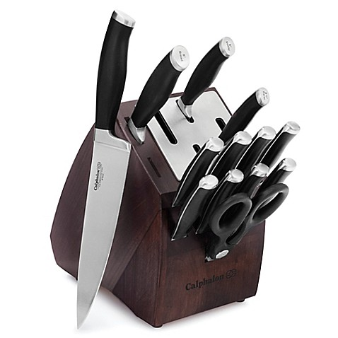 calphalon 174 contemporary self sharpening 14 piece cutlery