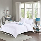 Mizone Mirimar Full/Queen Duvet Cover Set in White