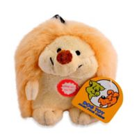 Small Hedgehog Electronic Plush Pet Toy in Tan and White