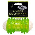 Hyper Pet™ 4-3/4 Inch Squawker Bone Dog Toy in Green/White