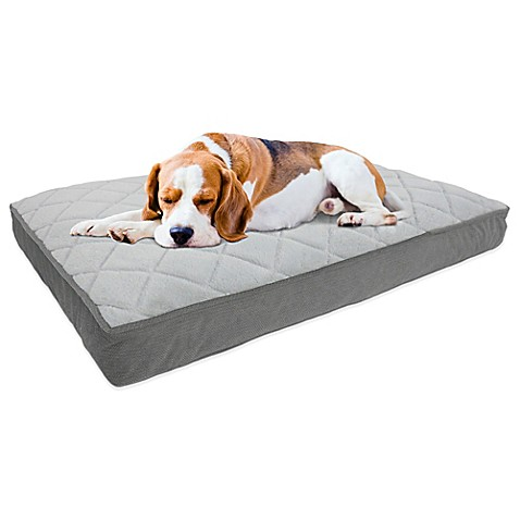 Therapedic 174 Memory Foam Pet Bed In Charcoal Bed Bath