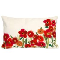 Liora Manne Poppies 12-Inch x 20-Inch Outdoor Throw Pillow in Red