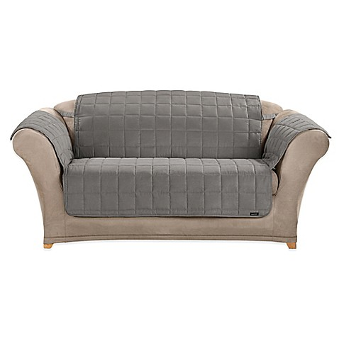 Buy Sure Fit Water Repellent Pet Loveseat Cover In Grey