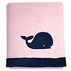 Nautica Kids® Mix & Match Velboa Whale Blanket in Pink