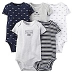Carter's® Newborn 5-Pack  Gentleman  Short Sleeve Bodysuit in Navy/Grey