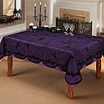 Bats And Spiders 60-Inch x 84-Inch Oblong Lace Tablecloth in Black