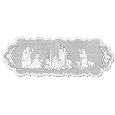 Heritage Lace® Silent Night 41 Inch Table Runner In White