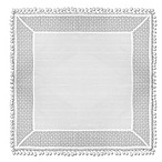 Heritage Lace® Prima 36-Inch Table Topper in White
