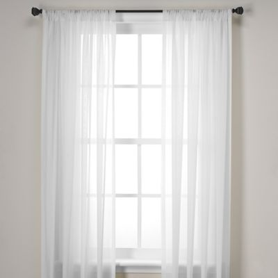 Newbury Pole Top 63 Inch Window Curtain Panel In White