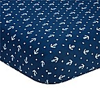Nautica Kids® Mix & Match Anchor Print Fitted Crib Sheet in Navy
