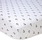 Nautica Kids® Mix & Match Anchor Print Fitted Crib Sheet in Grey