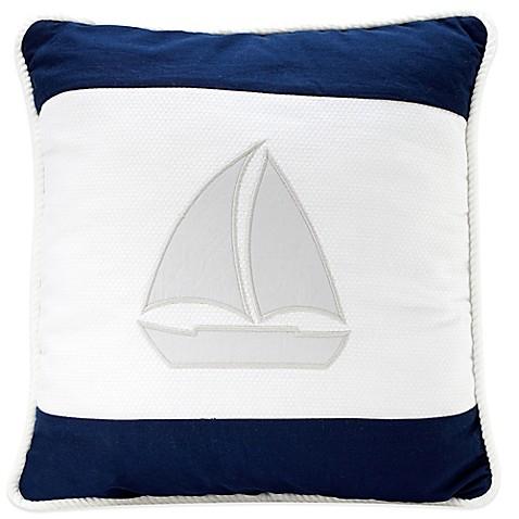 Nautica Decorative Pillows Navy : Nautica Kids Mix & Match Sailboat Throw Pillow in Navy/Grey - buybuy BABY