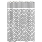 Sweet Jojo Designs Trellis Shower Curtain in Grey/White