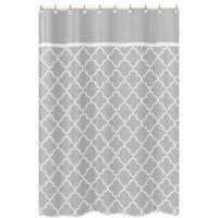 Sweet Jojo Designs Trellis Shower Curtain in Grey/White