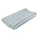 Petit Nest™ Micha Chevron Changing Pad Cover in Blue