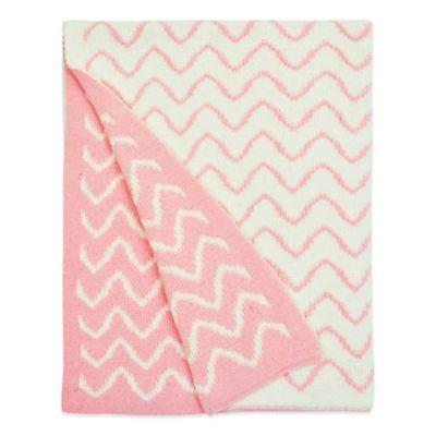 petit nest penelope chevron chenille blanket in pink - Chenille Blanket