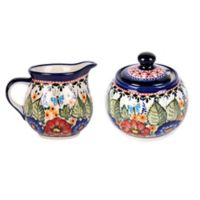 Pottery Avenue Butterfly Merry Making Sugar and Creamer Set