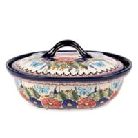Pottery Avenue Butterfly Merry Making 5-Cup Covered Casserole