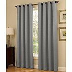 Insola Dorian Thermalayer Grommet Top 84-Inch Window Curtain Panel in Silver/Blue
