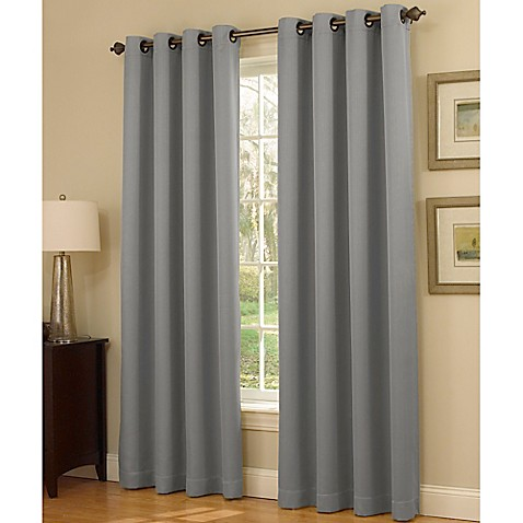 Insola Dorian Thermalayer Grommet Top Window Curtain Panel