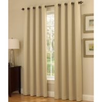 Insola Dorian Thermalayer Grommet Top 84-Inch Window Curtain Panel in Ivory