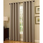 Insola Dorian Thermalayer Grommet Top 95-Inch Window Curtain Panel in Mushroom