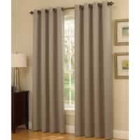 Insola Dorian Thermalayer Grommet Top 84-Inch Window Curtain Panel in Mushroom