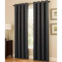 Insola Dorian Thermalayer Grommet Top 84-Inch Window Curtain Panel in Pewter