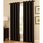 Insola Dorian Thermalayer Grommet Top 84-Inch Window Curtain Panel in Chocolate