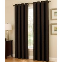 Insola Dorian Thermalayer Grommet Top 63-Inch Window Curtain Panel in Chocolate