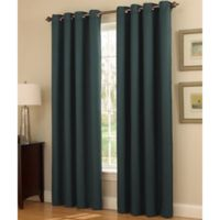 Insola Dorian Thermalayer Grommet Top 84-Inch Window Curtain Panel in Peacock