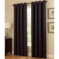 Insola Dorian Thermalayer Grommet Top 84-Inch Window Curtain Panel in Plum