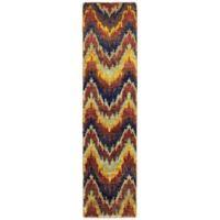 Tommy Bahama Woolen Ansley 2-Foot 6-Inch x 10-Foot Multicolor Rug