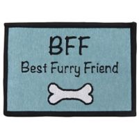 P.B. Paws by Park B. Smith BFF 13-Inch x 19-Inch Tapestry Pet Mat in Aquamarine