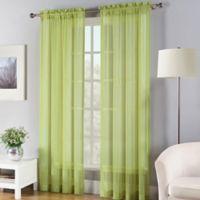 Fiesta® 84-Inch Sheer Window Curtain Panel in Lemon Grass