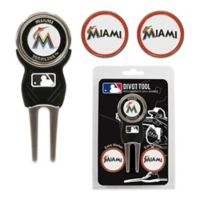 MLB Miami Marlins Divot Tool with Markers Pack