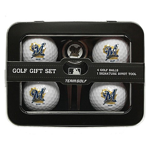 mlb milwaukee brewers 5 piece golf ball and divot tool set. Black Bedroom Furniture Sets. Home Design Ideas