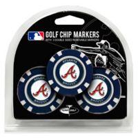 MLB Atlanta Braves Golf Chip Ball Markers (Set of 3)