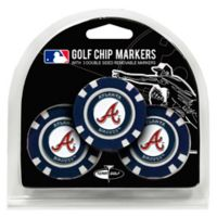 MLB Atlanta Braves Golf Chip Ball Markers (Set of 3)