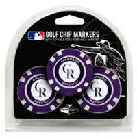 MLB Colorado Rockies Golf Chip Ball Markers (Set of 3)