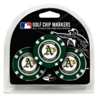 MLB Oakland Athletics Golf Chip Ball Markers (Set of 3)
